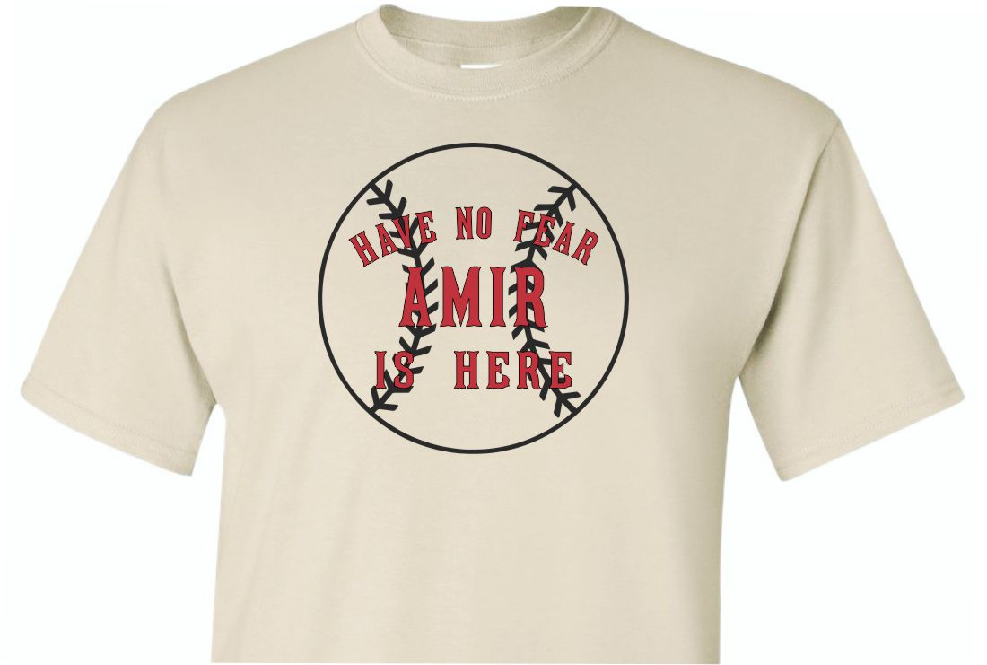 Have No Fear Amir is Here Shirt Sand