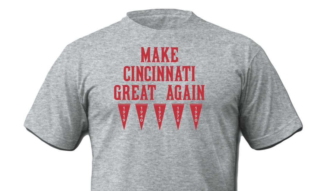 Make Cincinnati Great Again Shirt Grey