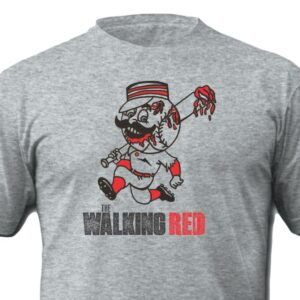 The Walking Red Shirt Grey