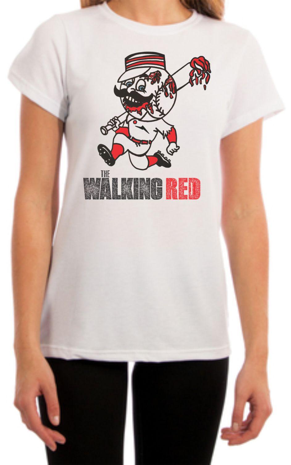 The Walking Red Womens Fit Cincinnati Shirt