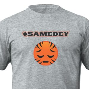SameDey Who Dey Shirt-Grey