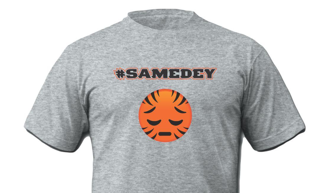 SameDey Who Dey Shirt-Grey