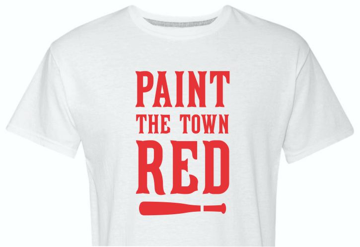 Paint The Town in Cincinnati Red White Shirt
