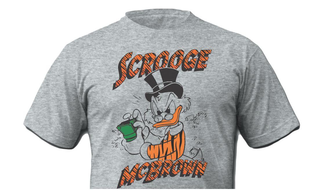 Scrooge McBrown Grey Shirt